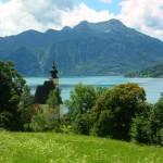 Pfarrkirche von Steinbach im Sommer